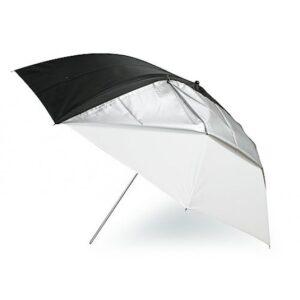 Зонт просветный с черно-серебряным чехлом