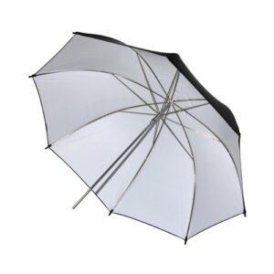 Черно-белый зонт